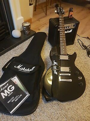 Marshall electric guitar and amp starter pack