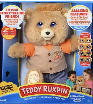 NIB 2017 Teddy Ruxpin Official Storytime Bear with Bluetooth Free Shipping