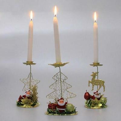 Christmas Candle Holder Xmas New Year Home Decoration Candlestick Accessories