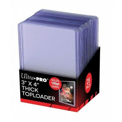 Brand New Sealed 25 count pack of Ultra PRO 3 x 4 Thick 100PT Toploaders 81846