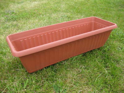 Wholesale stock job lot Rectangle Plastic Terracotta Plant Pots x33