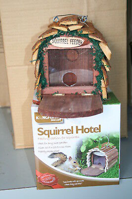 Wholesale stock job lot Wooden squirrel hotel feeder x8