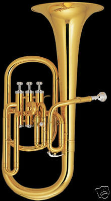 High quality Eastern music Alto Horn gold lacquer with case