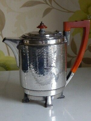 Classic original art deco chrome plated teapot by William Hutton and sons