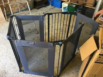 Lindam Safe & Secure Fabric Playpen/Safety Gate