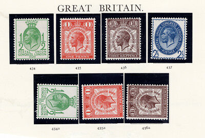GB SG 424a 435a 436a unmounted mint wmk sideways