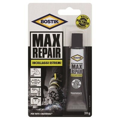 Bostik Max Repair Incollaggi Estremi Forte Flessibile Riempitivo Resist. Acqua