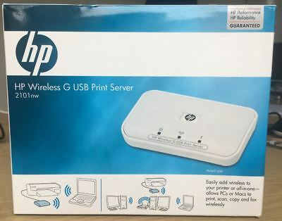 HP Wireless G 2101nw - Print server USB 802.11b 802.11g Q6302A (BRAND NEW)
