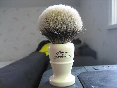 Morris & Forndran (M&F) Finest Badger Shave Brush, Fabulous condition