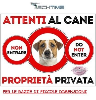 Cartello Targa Attenti Al Cane In Ferro Zincato Con Calamite Made In Italy Pic