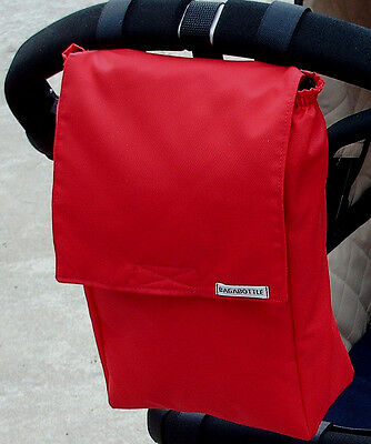 Bagabottle Red Pouch Bag Nappy/ Wipes  Fits Bugaboo M&P Stokke & More