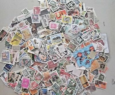 WORLDWIDE USED STAMPS OFF PAPER  lot of 100  SEE SCAN
