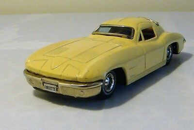 Bandai Japan Tin Litho Friction Chevrolet Corvette Stingray Car 60's V RARE NICE