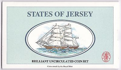 1992 States Of Jersey Brilliant Uncirculated Coin Set***Collectors***