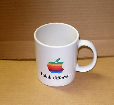 Apple Computer Rainbow Logo Think Different Mug