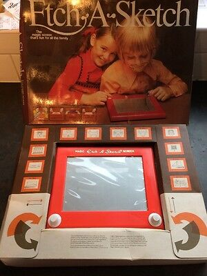 Vintage Etch A Sketch. With Box & Instructions. Retro Drawing Toy.