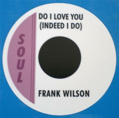 Northern Soul Record Box Sticker - Frank Wilson - Do I Love You