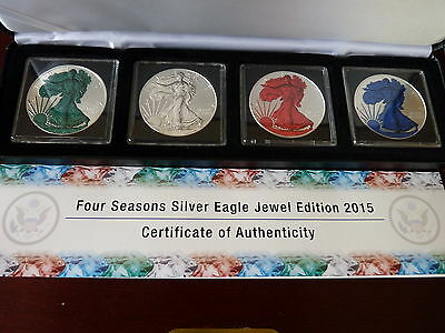 2015 USA American Eagle Four Seasons Emerald Diamond Ruby Sapphire