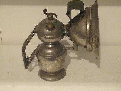 Vintage Antique Bicycle Carbide Lamp Lantern Light