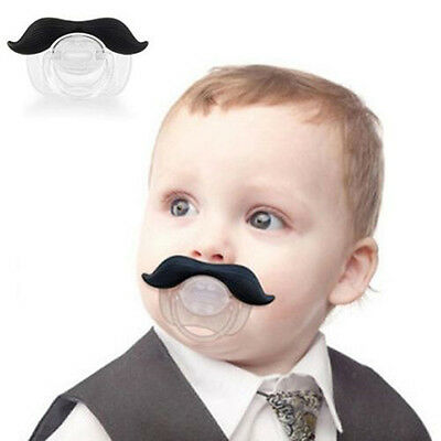 Funny Dummy Dummies Pacifier Novelty Teeth Moustache Baby Child Soother Hot STUK