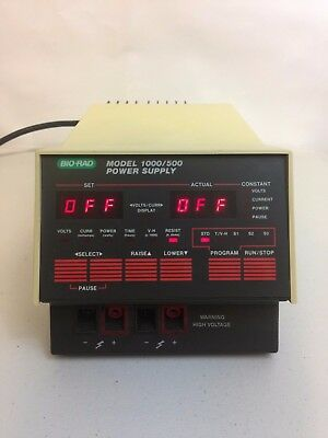 BioRad Model 1000 / 500 Electrophoresis Power Supply, Working! Guaranteed!