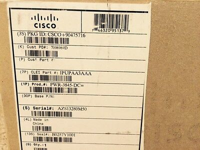 Cisco PWR-3845-DC 341-0091-01 AA2318 300W Pwr Supply for Cisco 3845 Router