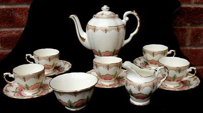 13pc Art Deco Tuscan China Coffee Set