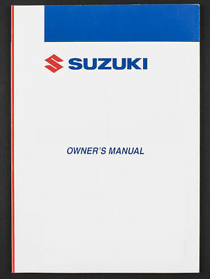 Genuine Suzuki Motorcycle Owners Manual For GSX750F (2001) 99011-20C63-042