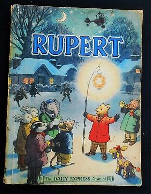 VINTAGE 1949 RUPERT BEAR ANNUAL, PRICE UNCLIPPED at 4/- Rare Harrison Print