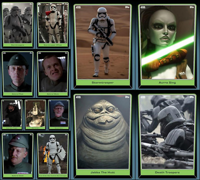 Topps Star Wars Card Trader FRIDAY THE 13TH [13 CARD CORE SET] Troopers/Sing+++