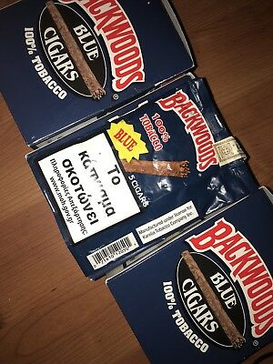 One Pack Of Blue Backwoods Cigars