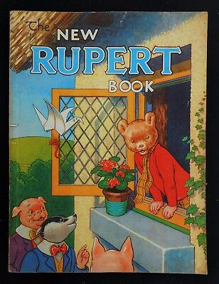 VINTAGE 1946 RUPERT BEAR ANNUAL, PRICE UNCLIPPED at 3/6 NO FACSIMLIE THIS YEAR