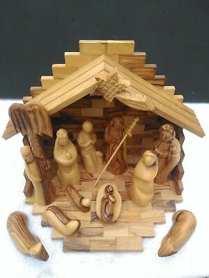 Christmas Nativity Set – Made From Olive Wood Handcrafted In Bethlehem