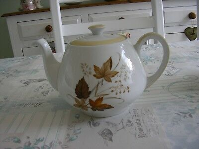 Vintage Glo-White Alfred Meakin Tea Pot Autumn Leaves Design