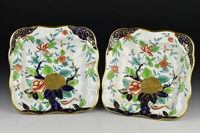 Pair of 19th Century Derby Porcelain Serving Dishes w/ Flowers