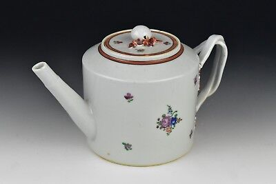 18th Century Chinese Export Porcelain Teapot w/ Flowers