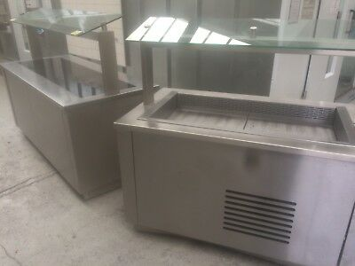 Hot and cold food display units, Refrigerated counter, Carvery, Serve over