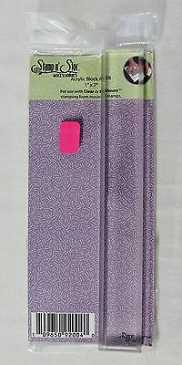 """Stamp n' Store Acrylic Block With Top Beveled Edges 1"""" X 7"""" AM08 Crafts New"""