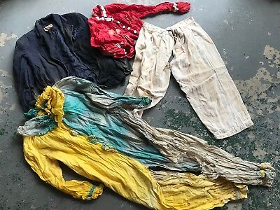 Vintage Lot Of 1920s 30s 40s Homemade Barn Find Clothes Costume Clown Workwear