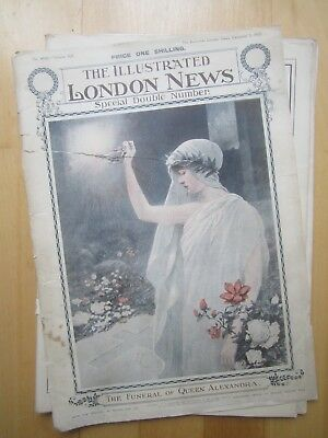 Illustrated London News magazine 1925 - Queen Alexandra Funeral etc., 80 pages