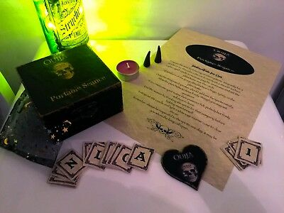 Mini Seance Kit: Box with Spirit Cards, Planchette, Candle, Incense & Guide