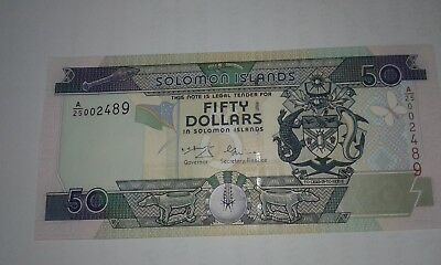 Solomon Islands Banknote $50, 2001 P24, UNC