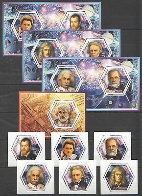 A279 2014 Du Tchad Science Space Les Scientifiques Private Issue 3Kb+7Bl Mnh