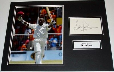 Brian Lara West Indies Cricket Personally Signed Autograph Photo Mount