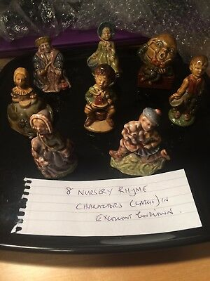 Red Rose Tea Nursery Rhyme Large Figurines Collection