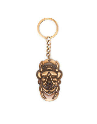 Official Assassin's Creed Origins - Scarab With Symbol Bronze Keyring (New)