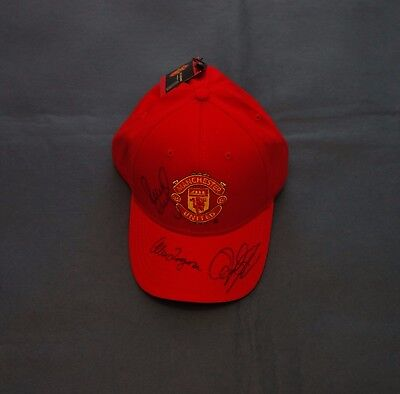 Ryan Giggs, Alex Ferguson & Paul Scholes Signed Manchester United Cap with COA