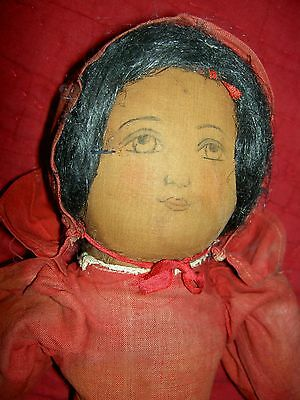"""Rare EARLY 1904, hand painted, """"Babyland Rag"""", TOPSY TURVY cloth doll, all orig."""