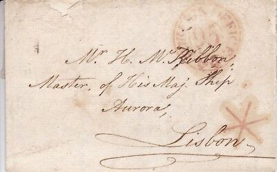 1798 H.m.s. Aurora At Lisbon - Entire Letter From London
