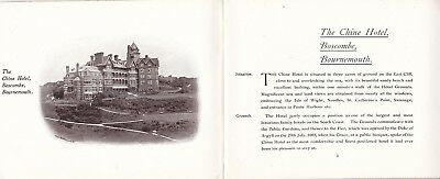 Bournemouth - Boscombe Chine Hotel Early 1900's Souvenir Booklet